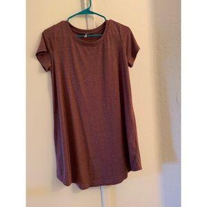 Burgundy Tshirt dress